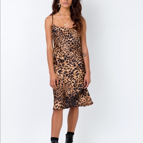 37b02efc986 Princess Polly Leopard Silky Cowl Dress Small. M 5c9e93a5d400082dd265124d
